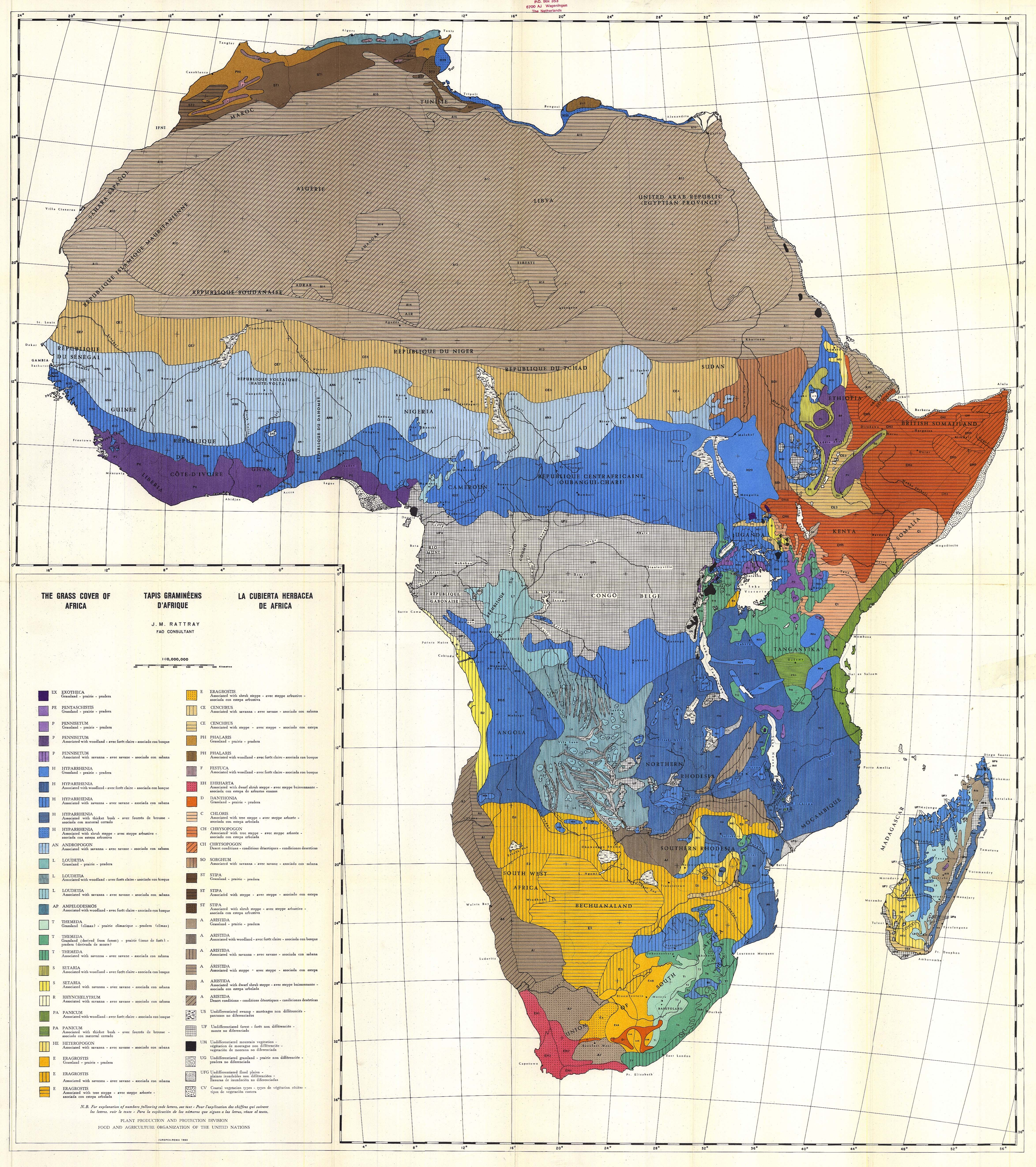 The Grass Cover of Africa 1960
