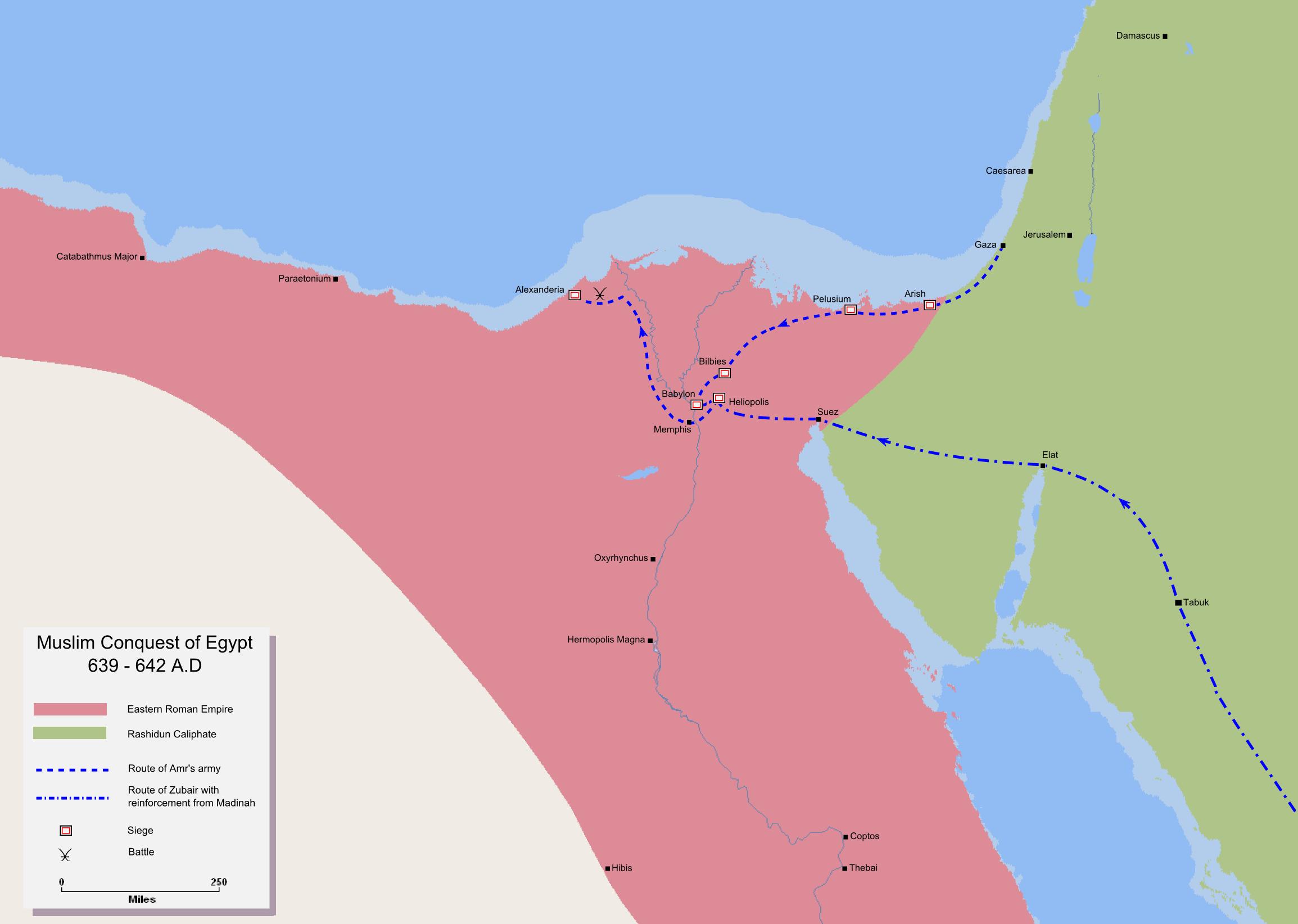 La conquista musulmana de Egipto 639-642