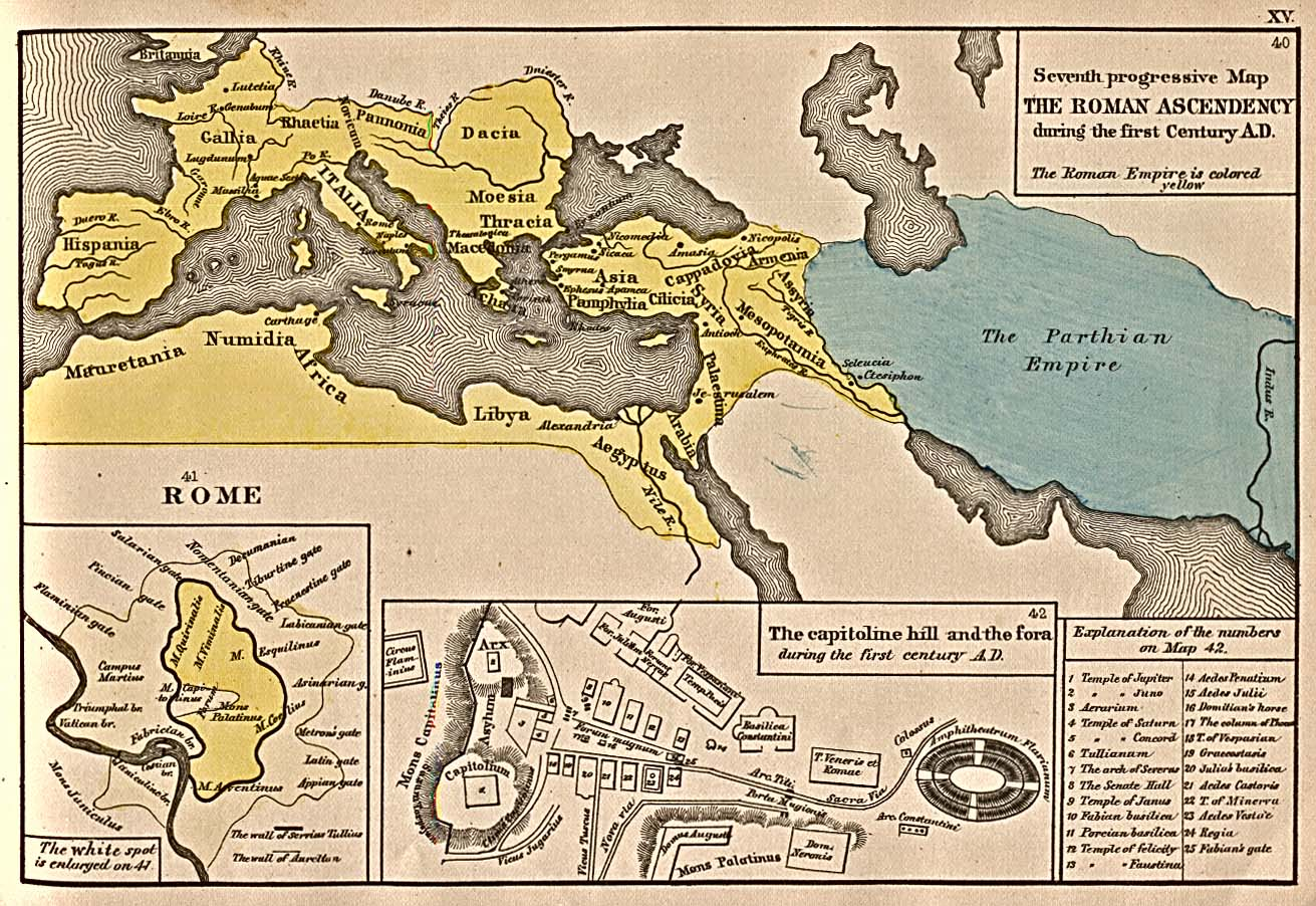 The expansion of Rome 1st Century B.C.
