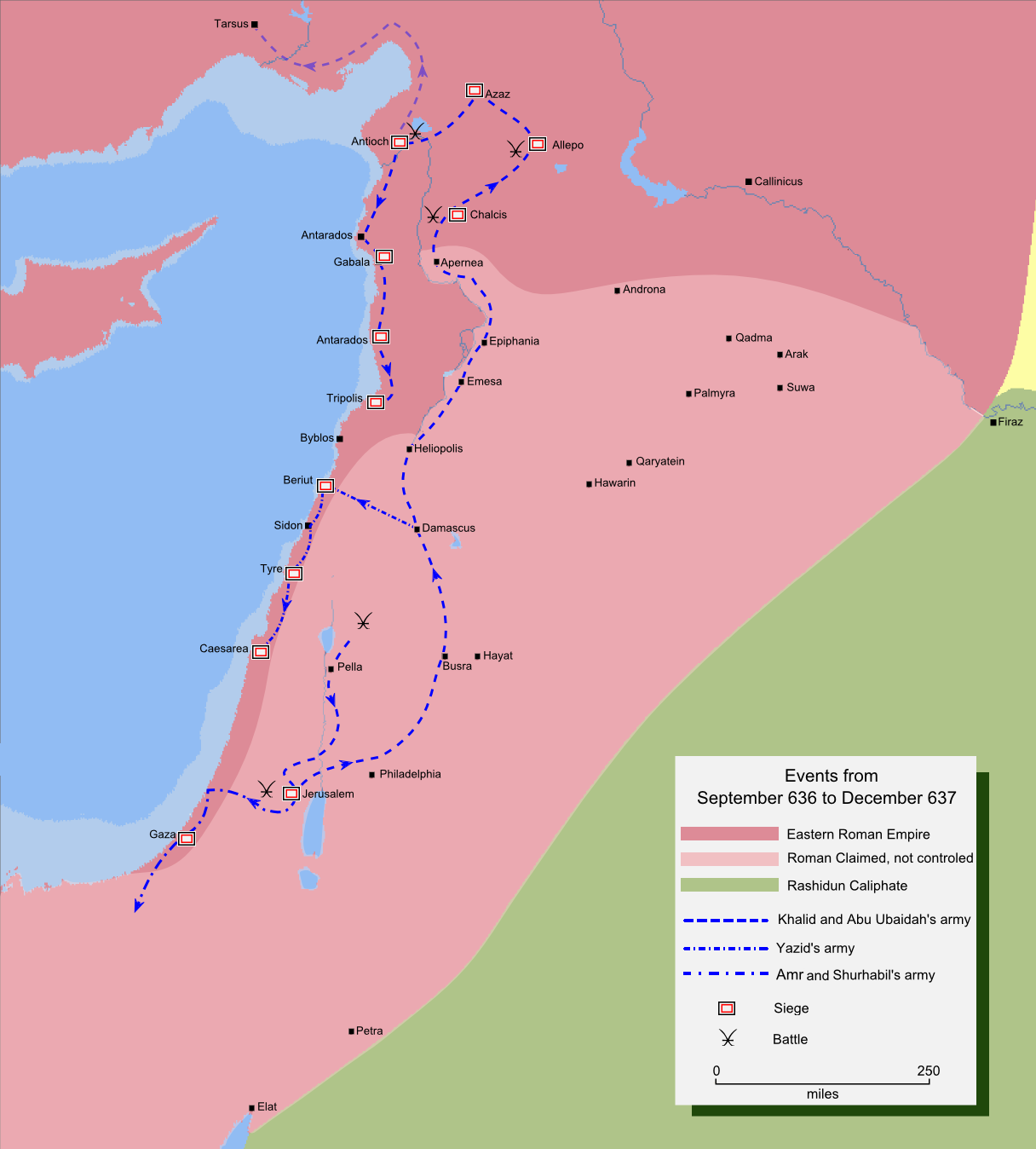 Muslim's invasion of northern Syria 636-637