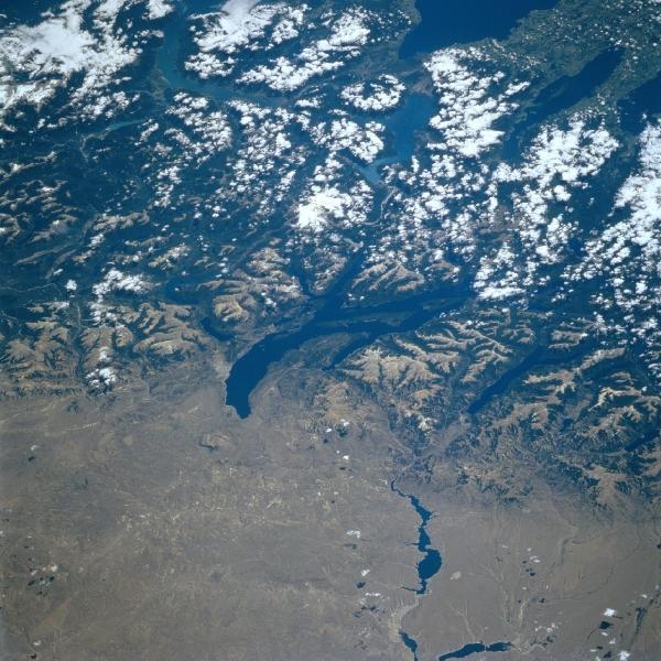 Satellite Image, Photo of Lago (Lake) Nahuel Huapi, Argentina