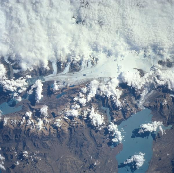 Satellite Images, Photos of Lake Viedma, Argentina