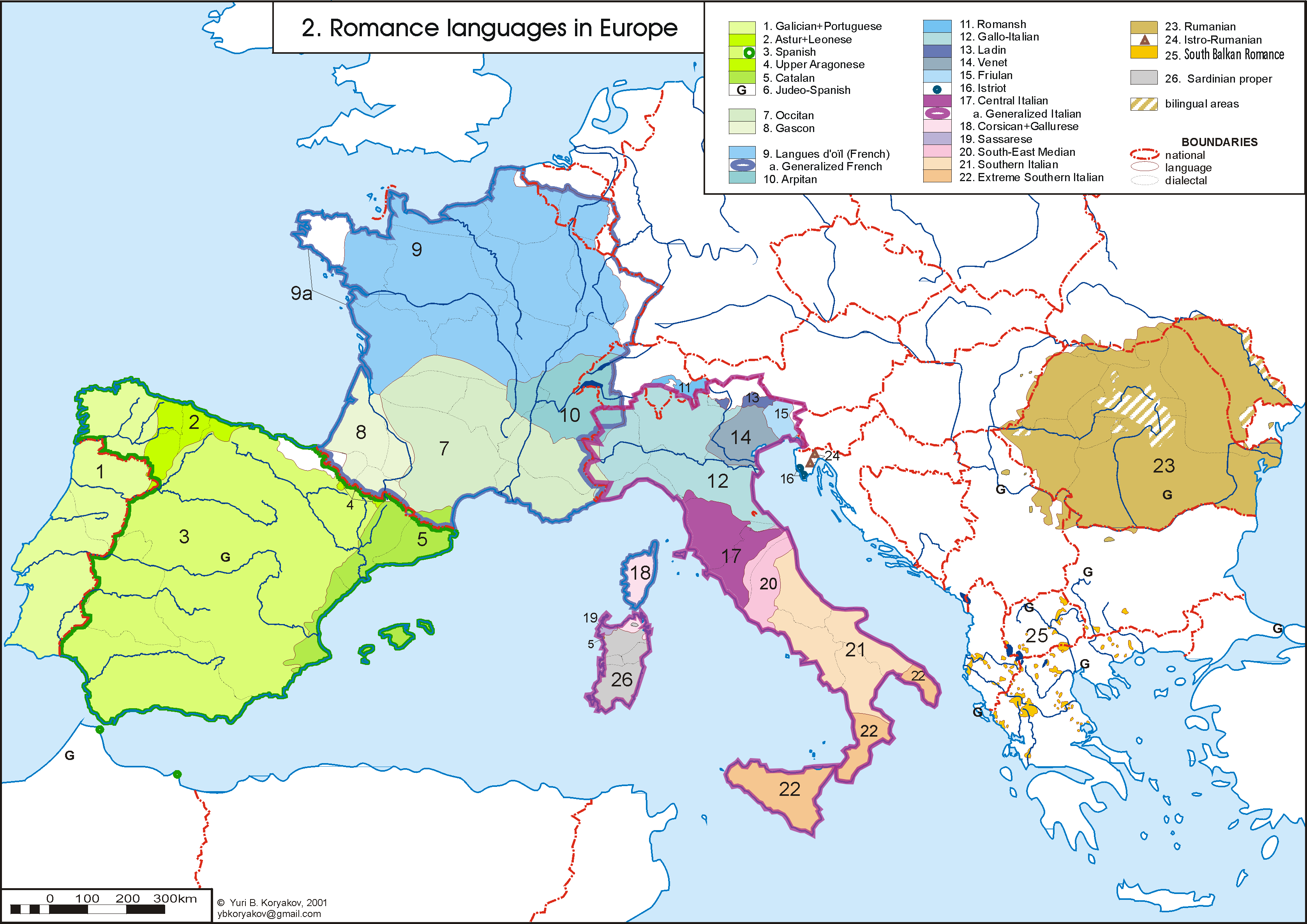 The Romance languages in Europe