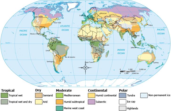 Las zonas climáticas del mundo 2009