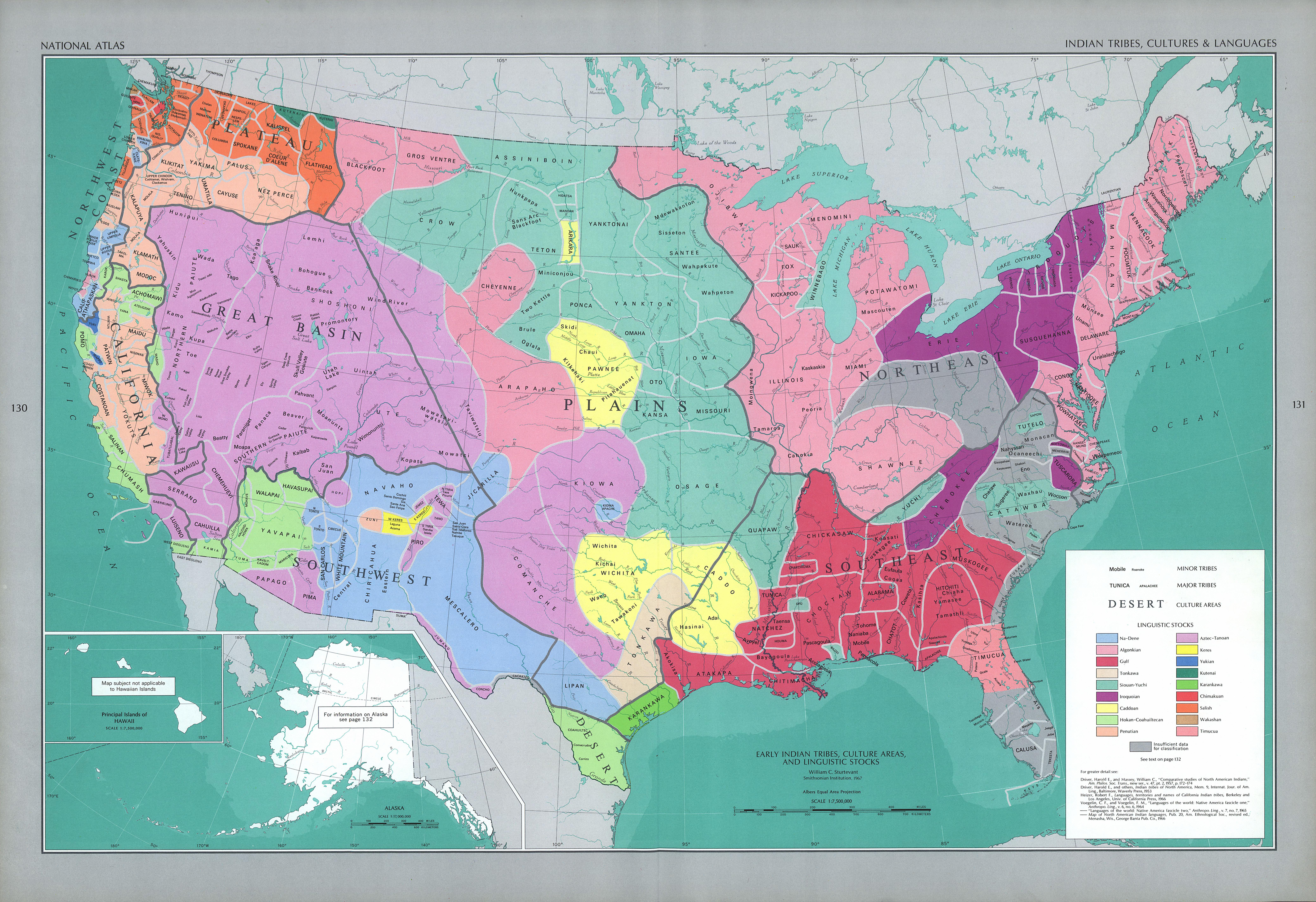 Lenguas y Culturas de las Tribus Indígenas de Estados Unidos 1970