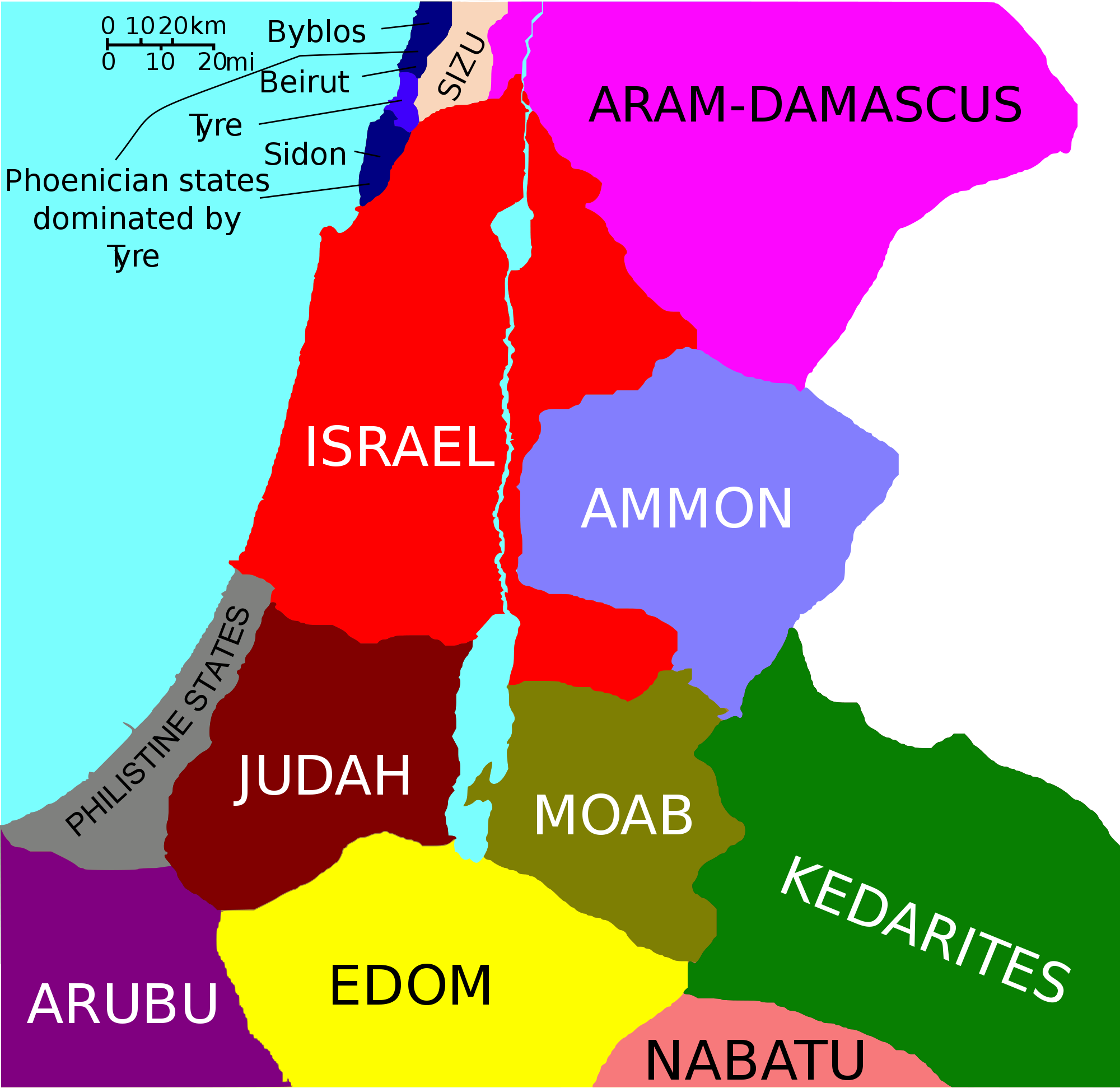 Levante mediterráneo 800 aC