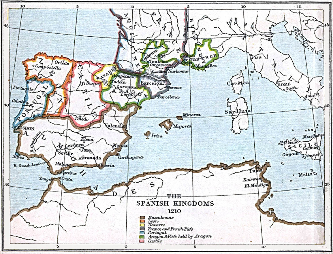 The Spanish Kingdoms 1210 A.D.