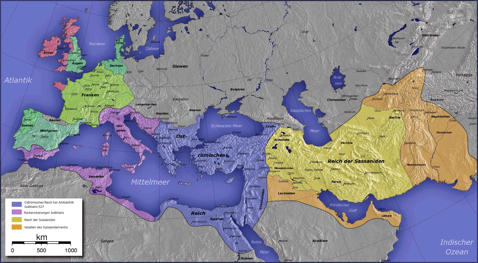The Persian Sassanid and Eastern Roman Empires 531-565