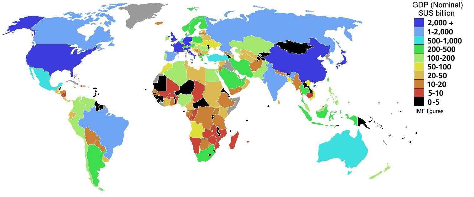 Countries according to their gross domestic product 2007