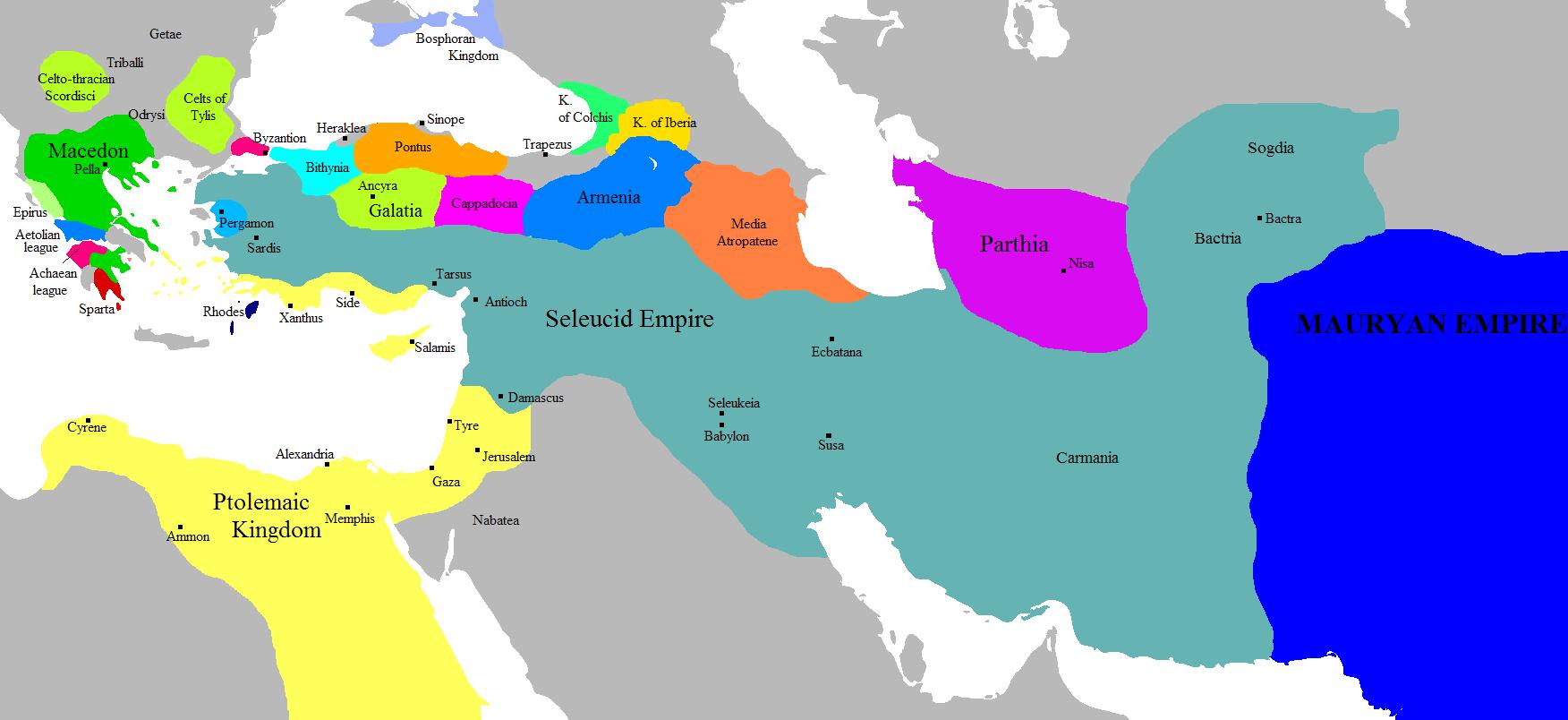 Los reinos de los diádocos 275 aC