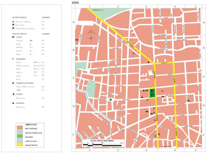 Apan Map, Hidalgo, Mexico