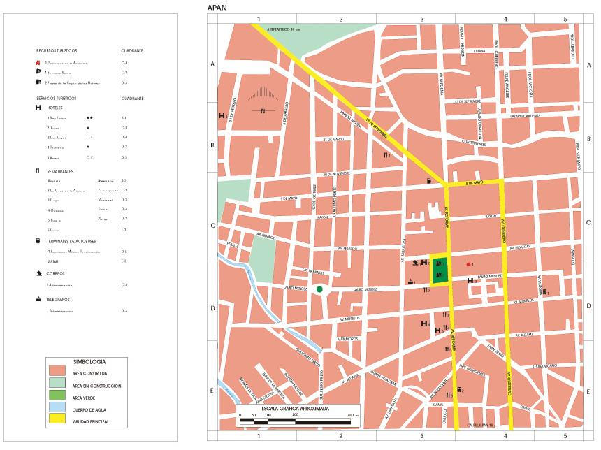 Mapa Apan, Hidalgo, Mexico