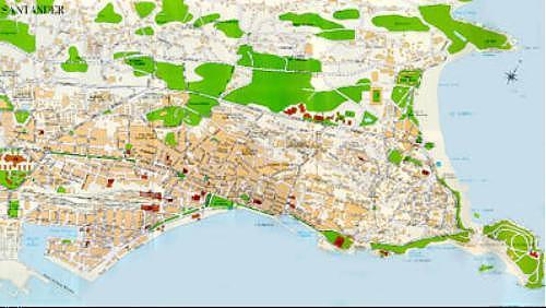 Mapa Ciudad Santander, España