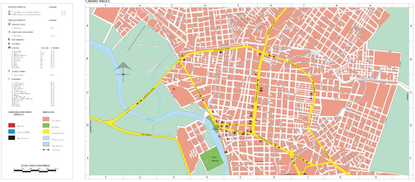 Mapa Ciudad Valles, San Luis Potosi, Mexico