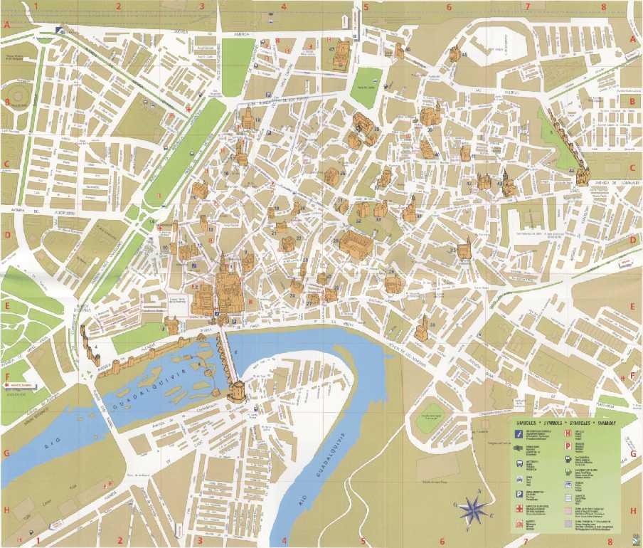 Mapa Ciudad de Córdoba, España