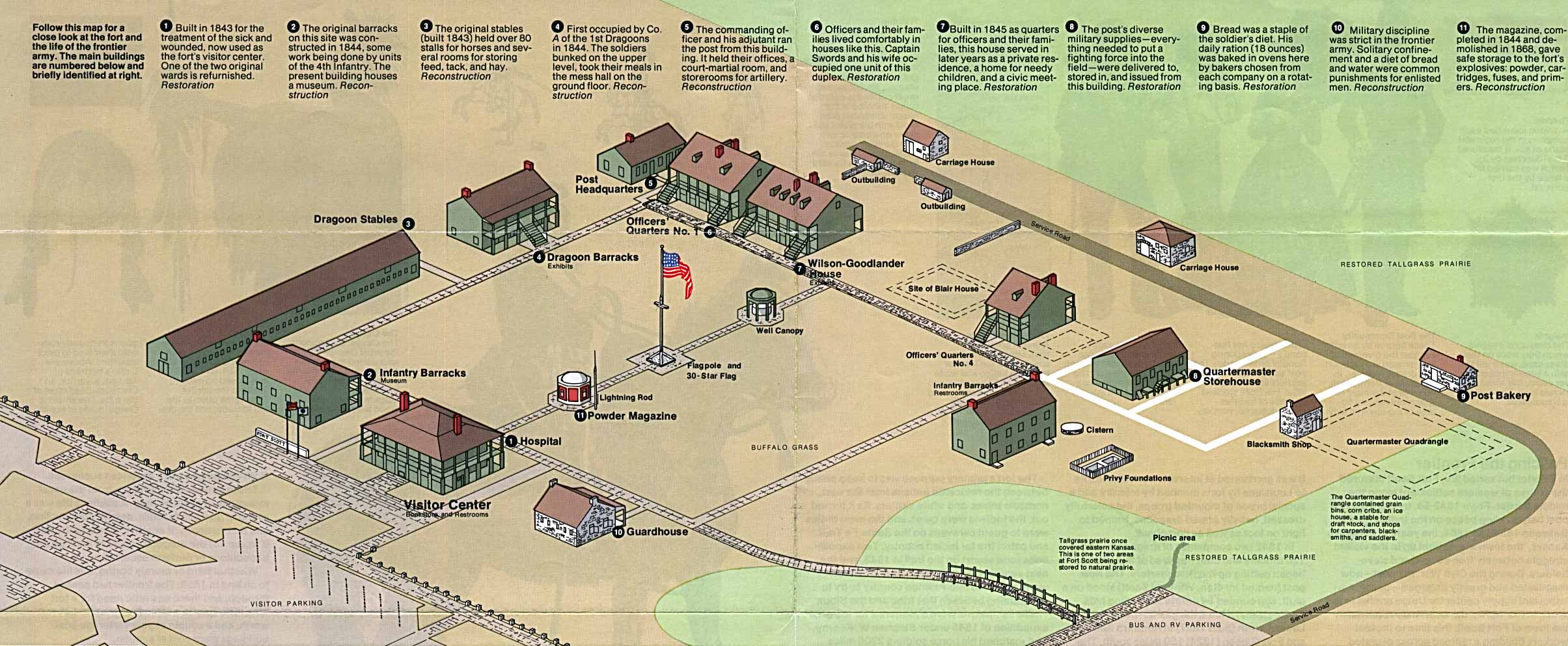 Larned (KS) United States  city photos : Fort Scott National Historic Site Schematic Map, Kansas, United States