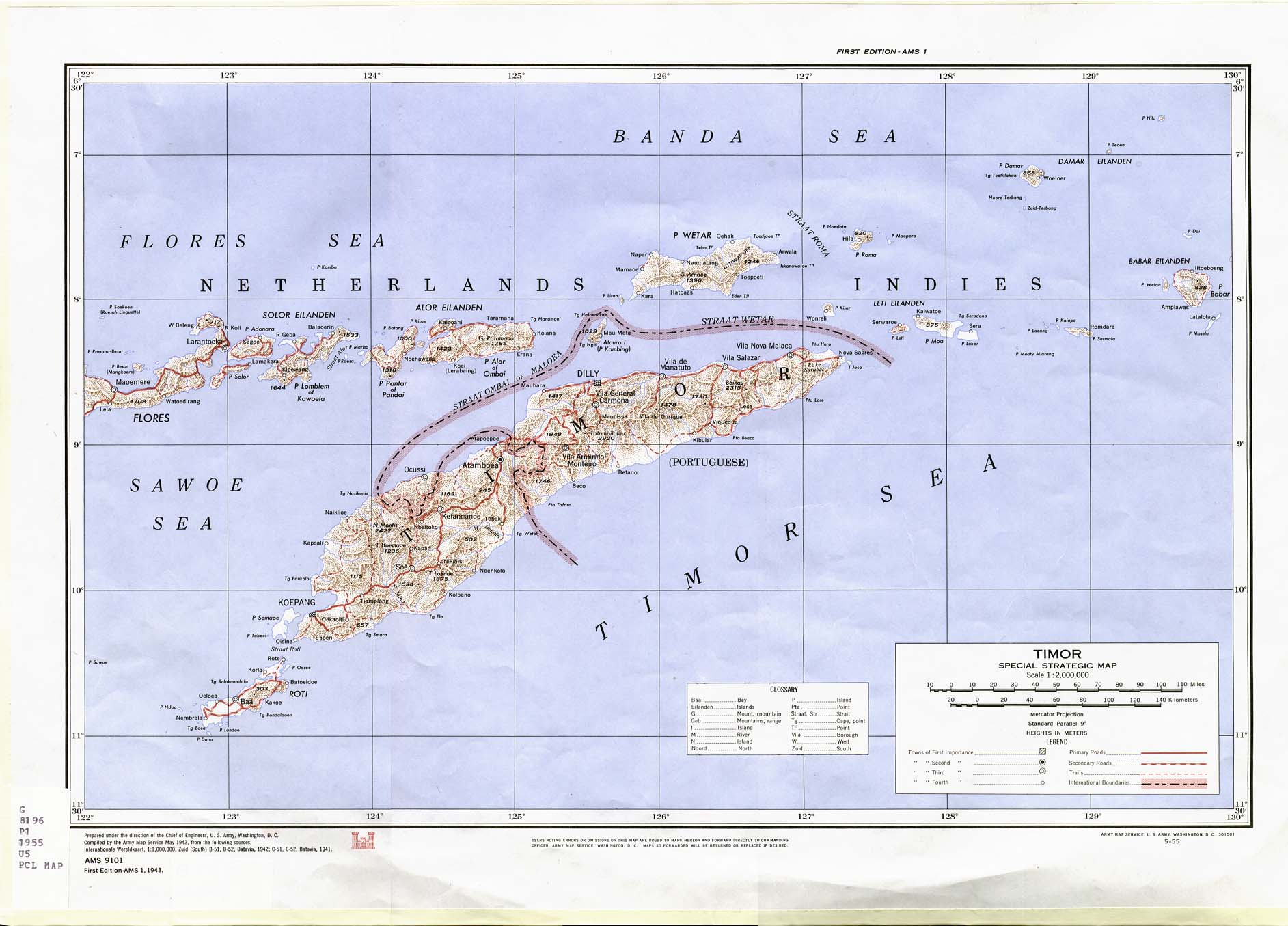 Timor Special Strategic Map 1943