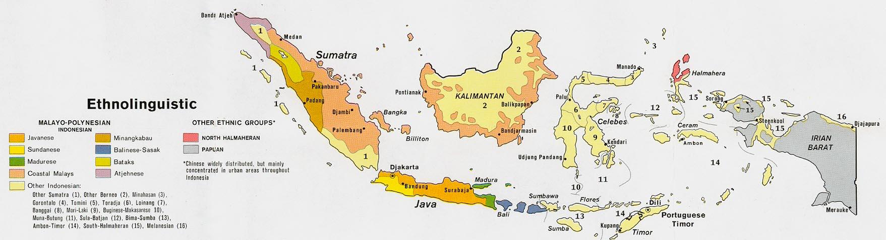 Mapa Etnolingüístico de Indonesia
