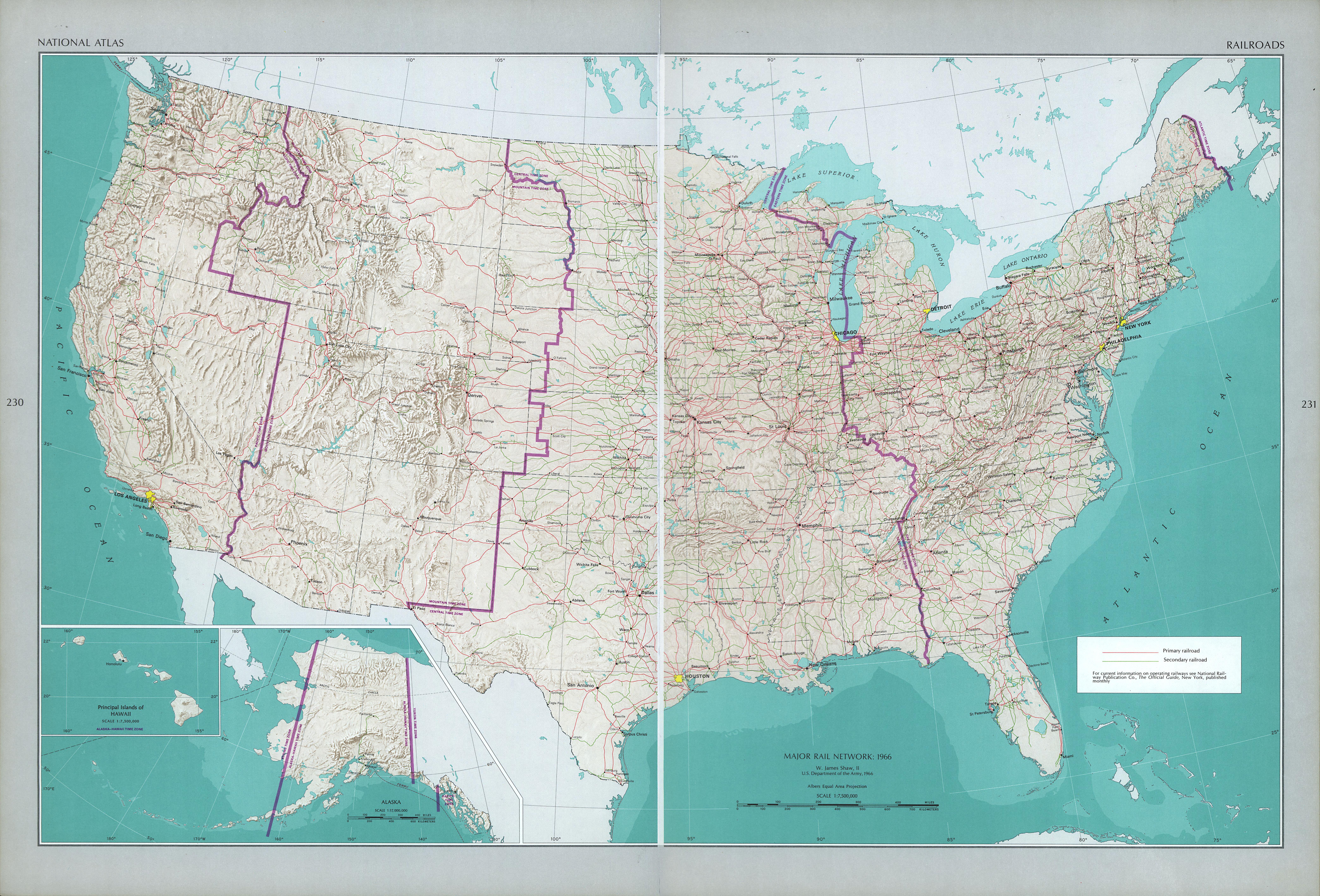 Mapa Ferroviario de los Estados Unidos