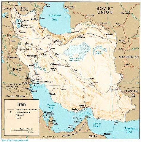 Mapa Físico de Irán