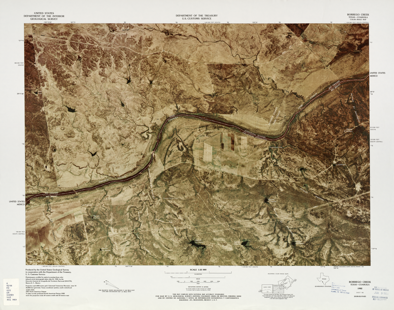 Mapa Fronterizo de México-Estados Unidos, Borrego Creek 1982