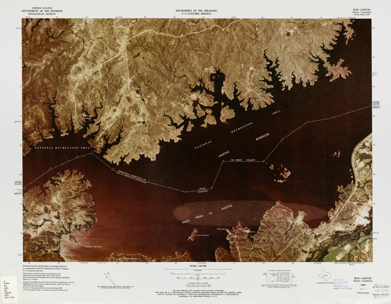 Mapa Fronterizo de México-Estados Unidos, Box Canyon 1982