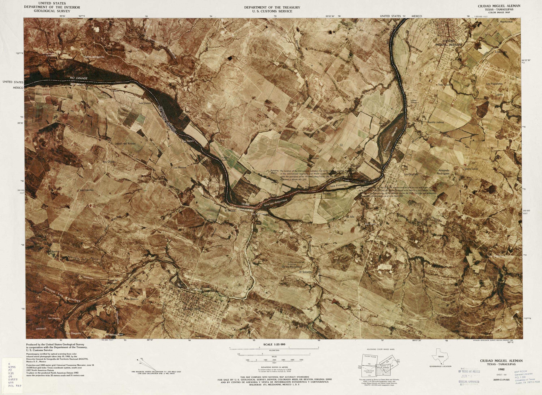 Mapa Fronterizo de México-Estados Unidos, Ciudad Miguel Aleman 1982
