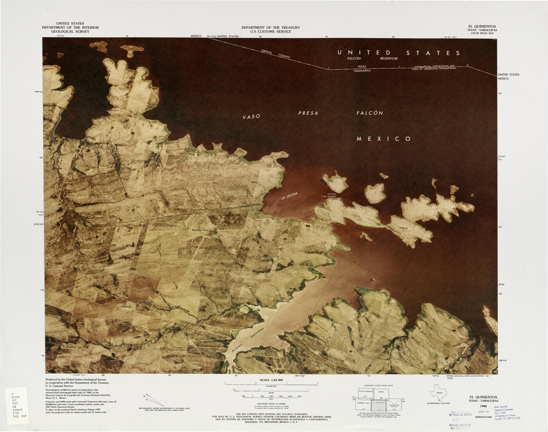 Mapa Fronterizo de México-Estados Unidos, El Quinientos 1982