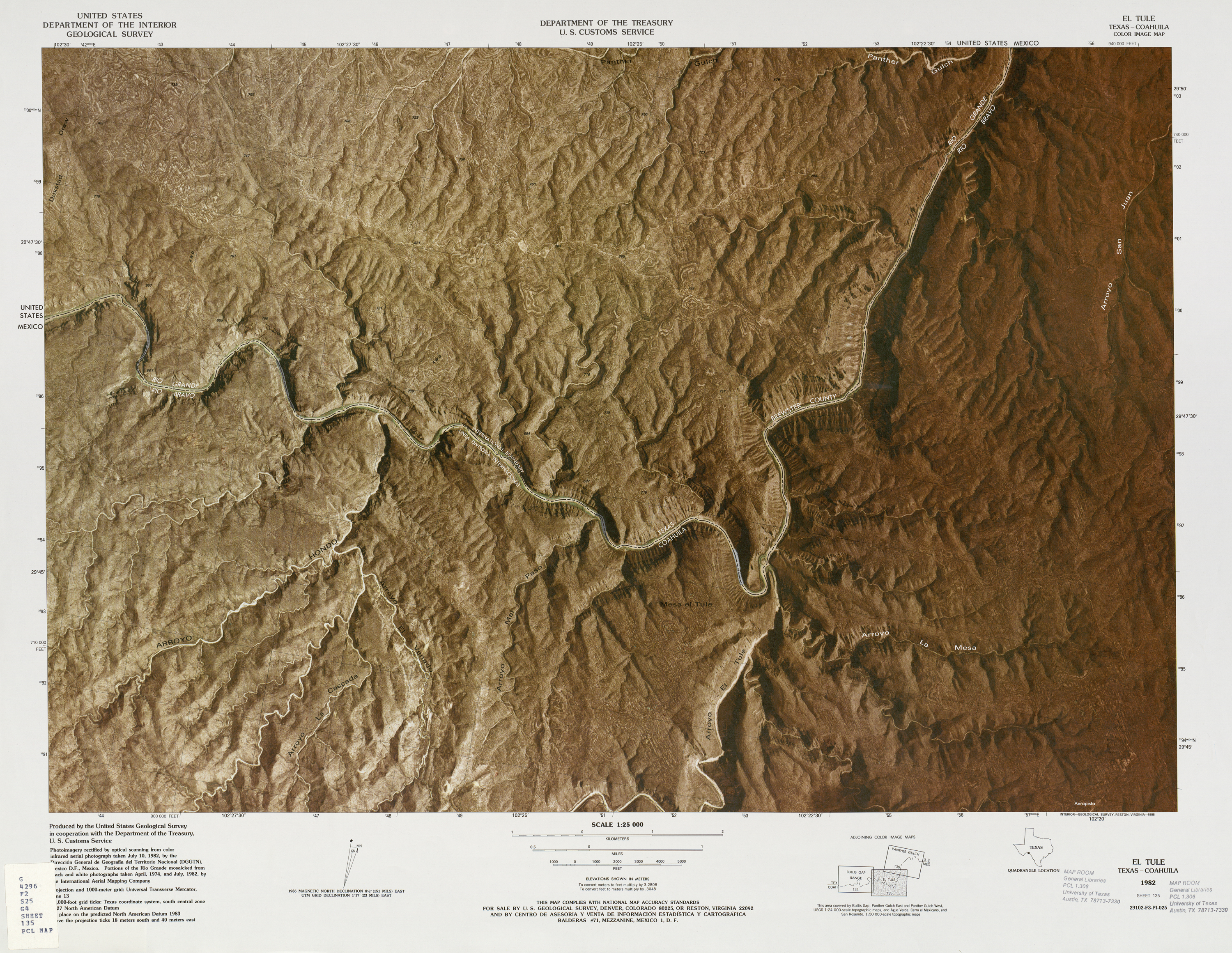 United States-Mexico Border Map, El Tule