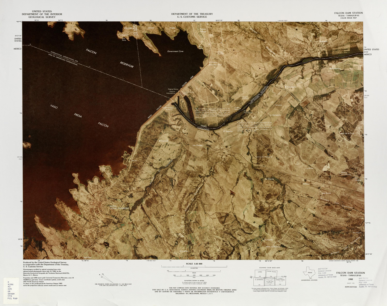 Mapa Fronterizo de México-Estados Unidos, Falcon Dam Station 1982