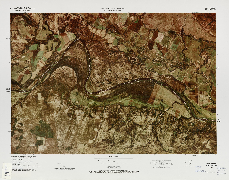 Mapa Fronterizo de México-Estados Unidos, Indio Creek 1982