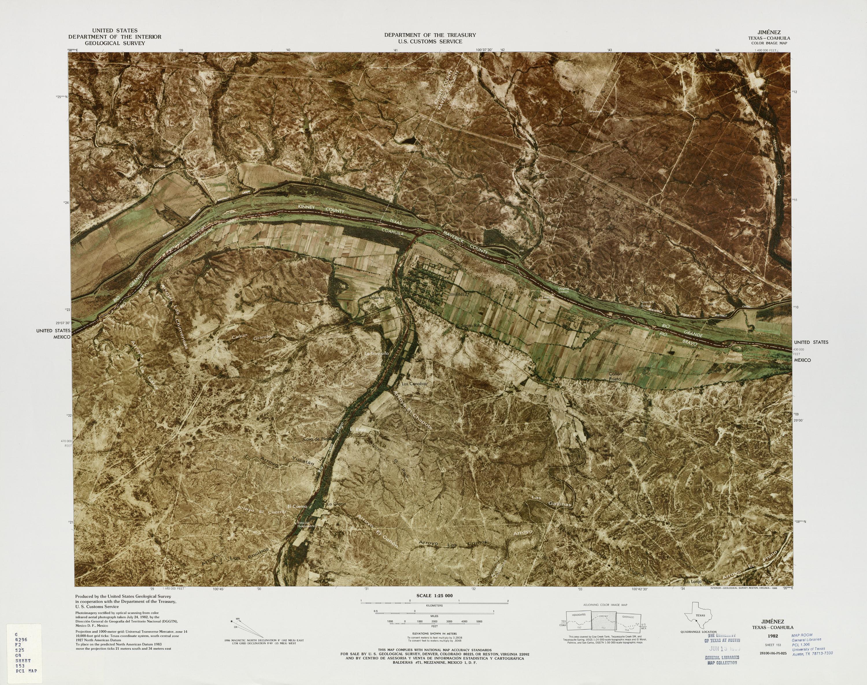United States-Mexico Border Map, Jimenez
