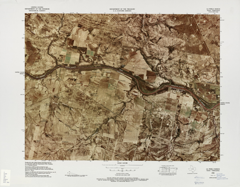 Mapa Fronterizo de México-Estados Unidos, La Perla Ranch 1983
