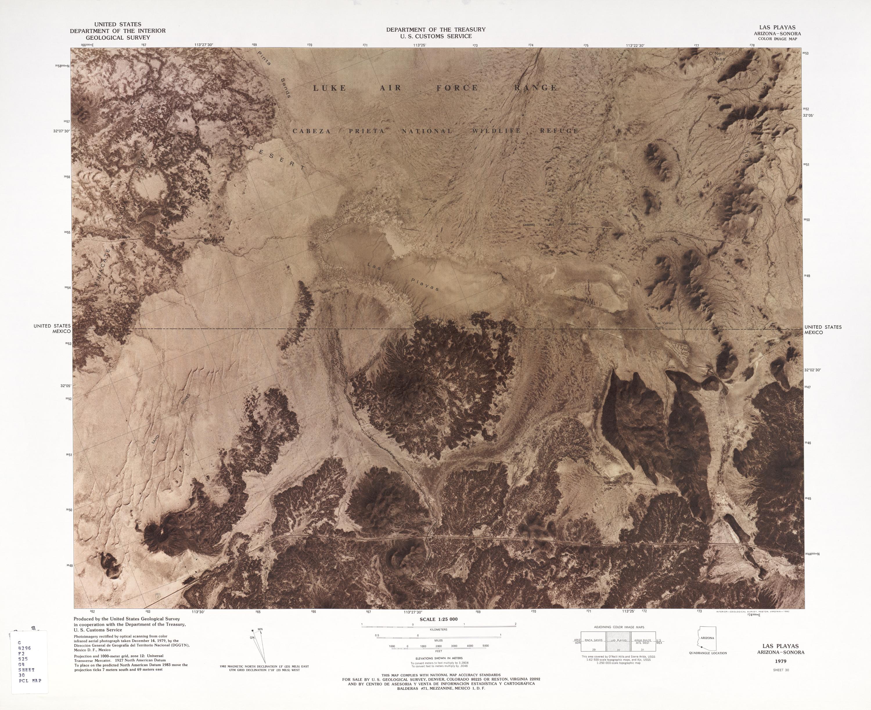Mapa Fronterizo de México-Estados Unidos, Las Playas 1979