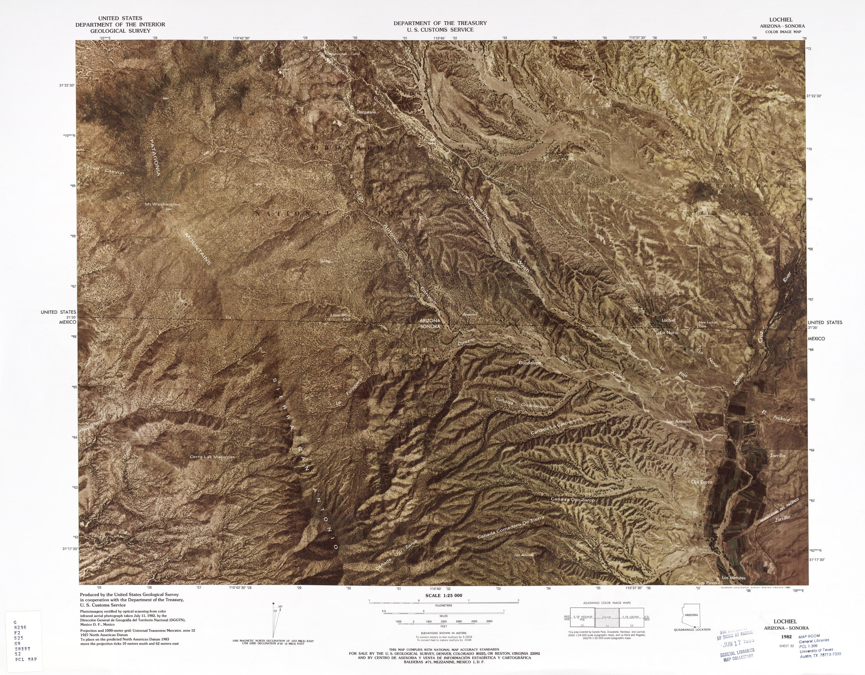 Mapa Fronterizo de México-Estados Unidos, Lochiel 1982