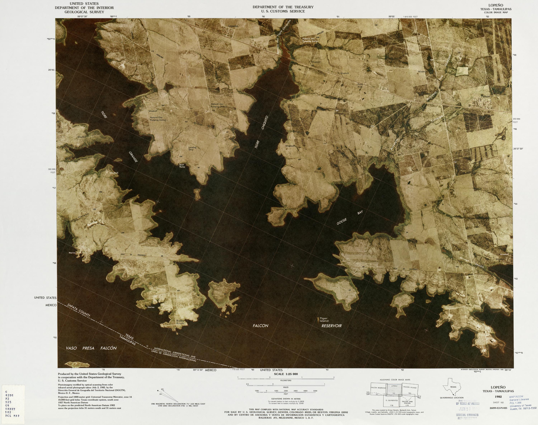 Mapa Fronterizo de México-Estados Unidos, Lopeno 1982