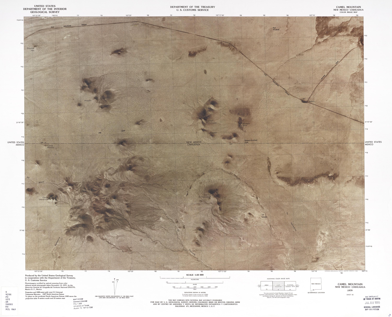 Mapa Fronterizo de México-Estados Unidos, Montaña Camel 1979