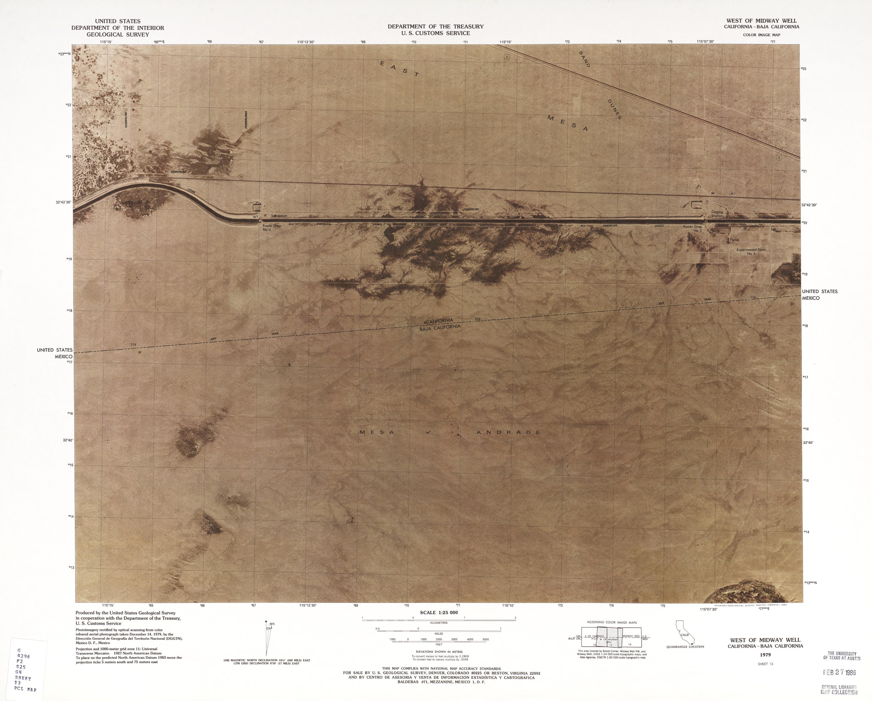 Mapa Fronterizo de México-Estados Unidos, Oeste de Midway Well 1979