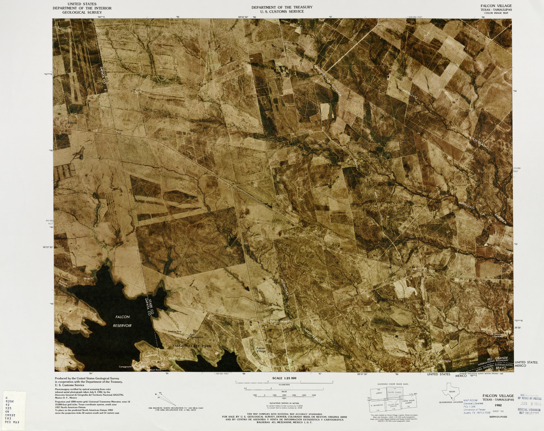 Mapa Fronterizo de México-Estados Unidos, Pueblo de Falcon 1982