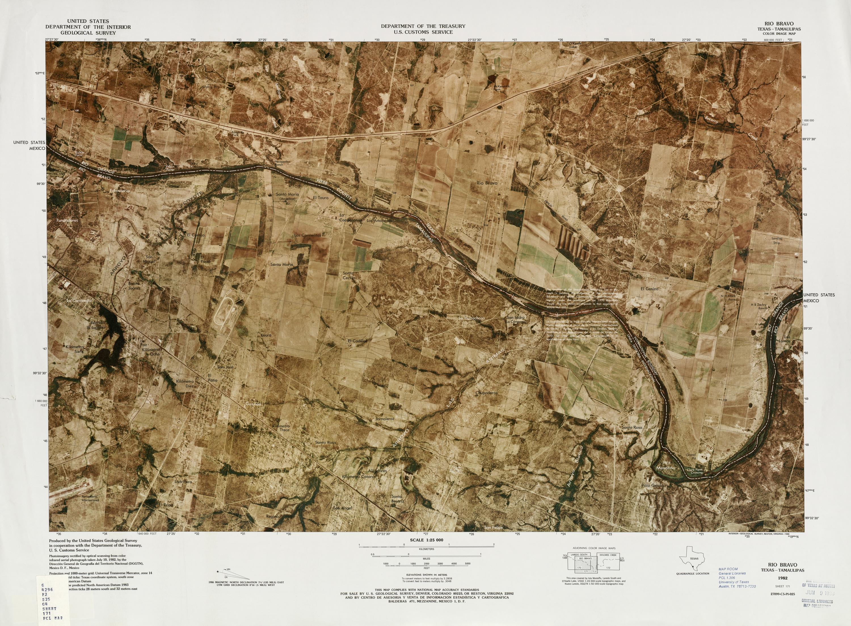 Mapa Fronterizo de México-Estados Unidos, Rio Bravo 1982