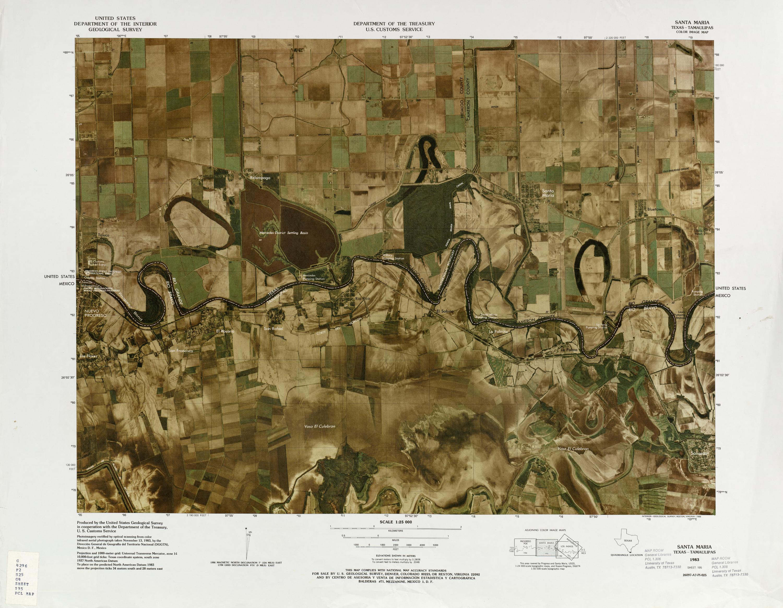 Mapa Fronterizo de México-Estados Unidos, Santa Maria 1983