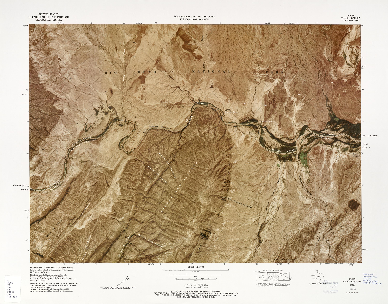 Mapa Fronterizo de México-Estados Unidos, Solis 1982