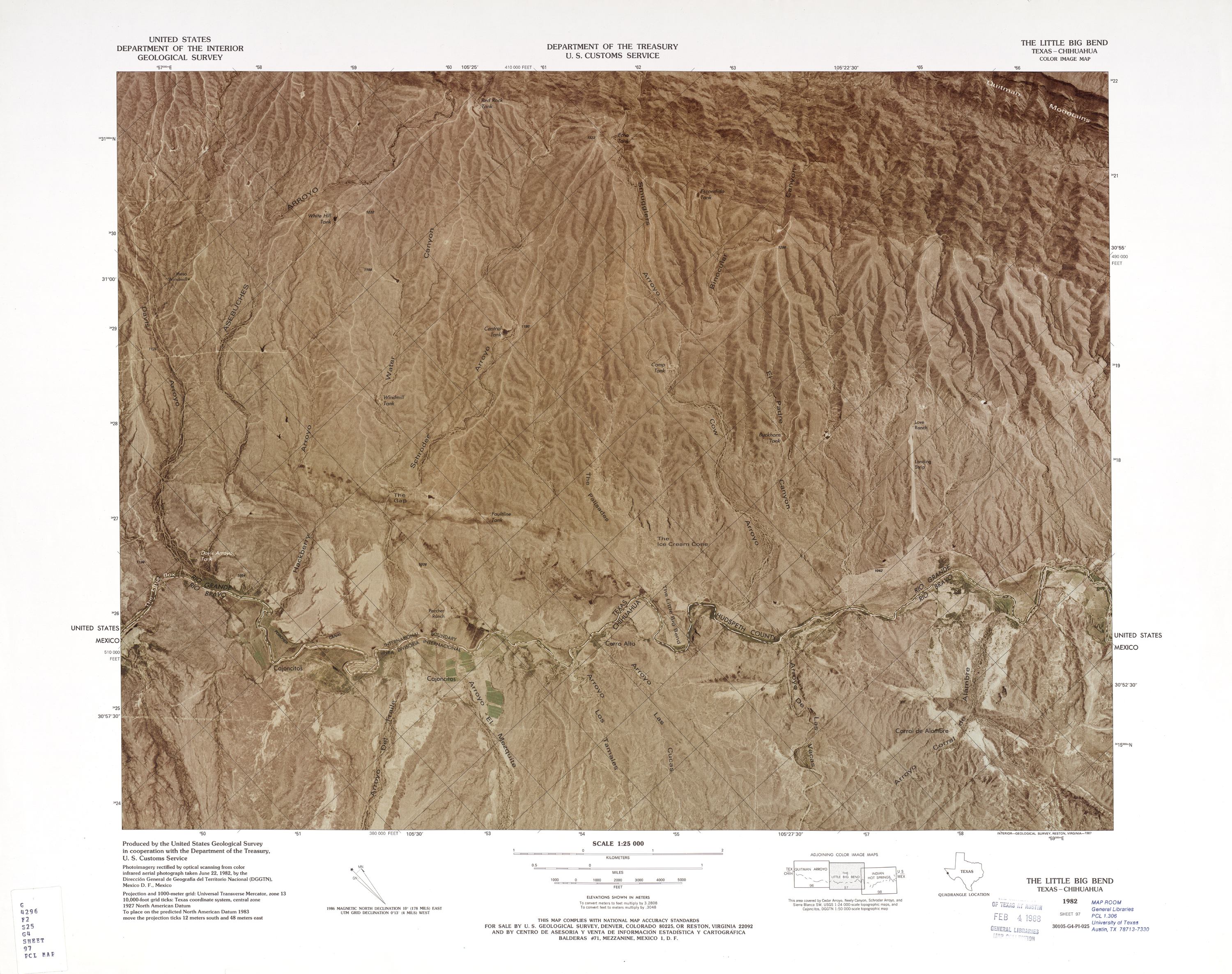 United States-Mexico Border Map, The Little Big Bend