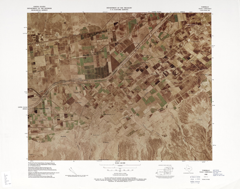 Mapa Fronterizo de México-Estados Unidos, Tornillo 1982