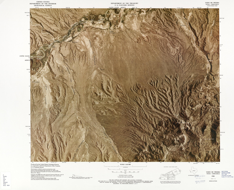 Mapa Fronterizo de México-Estados Unidos, Vado De Piedra 1983