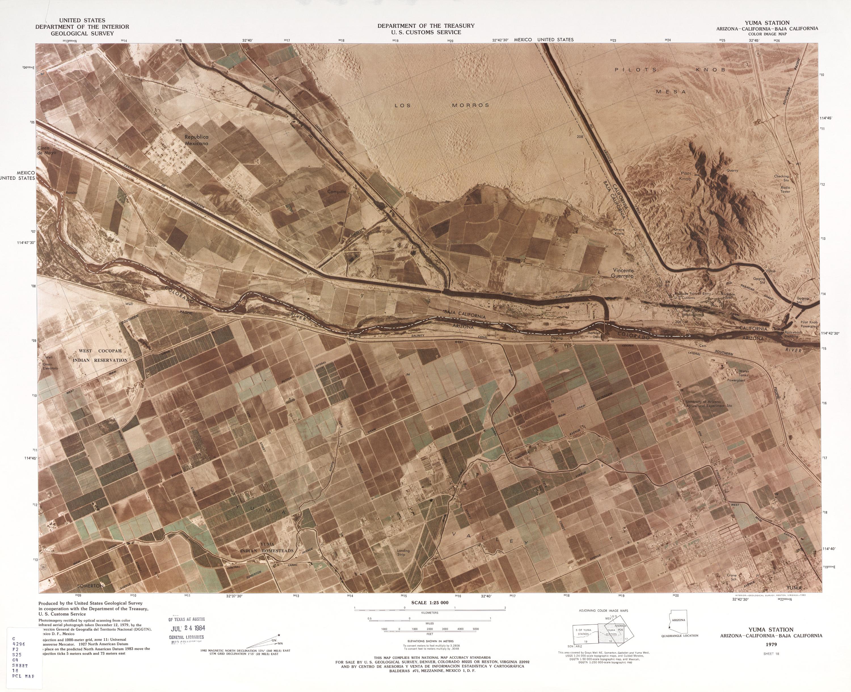 Mapa Fronterizo de México-Estados Unidos, Yuma Station 1979
