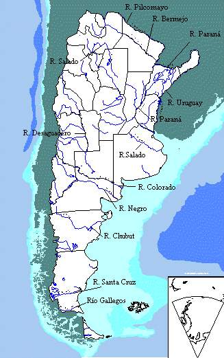 Argentina Hydrographic Map