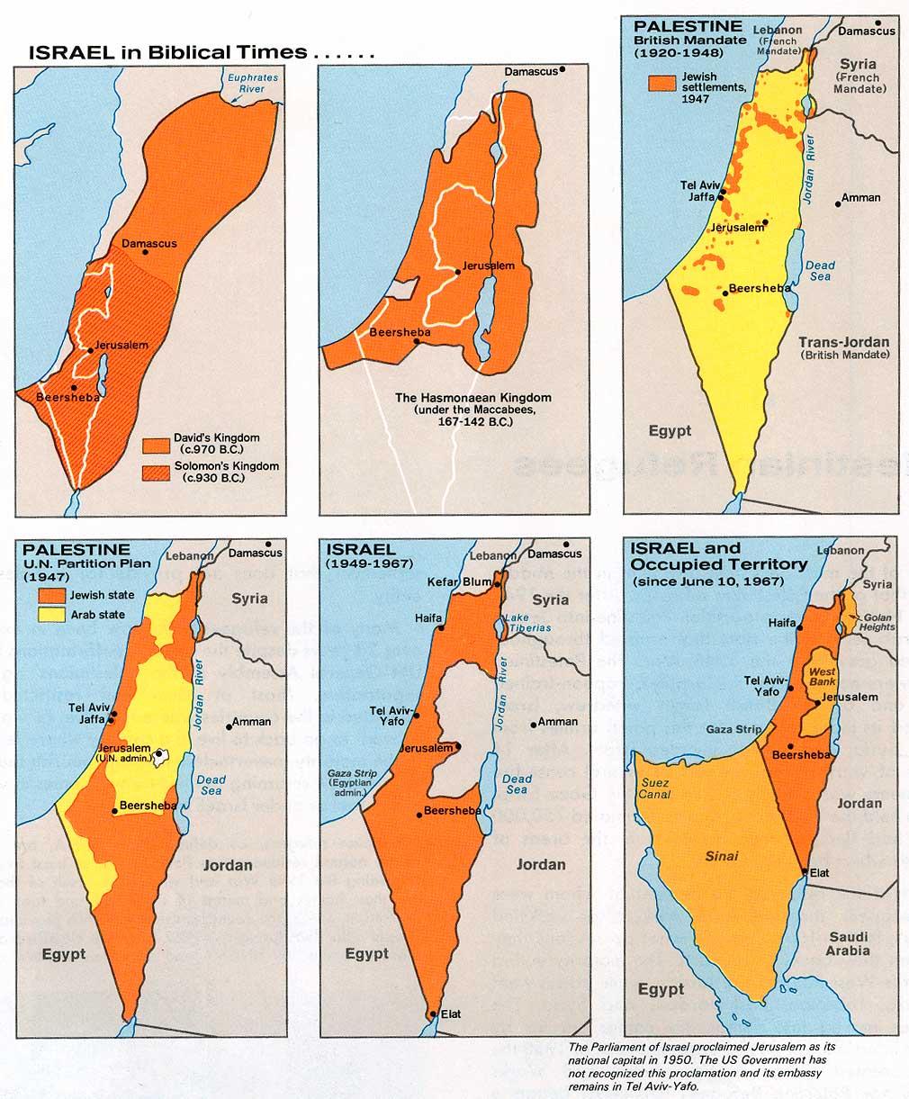 Mapa Histórico de Israel