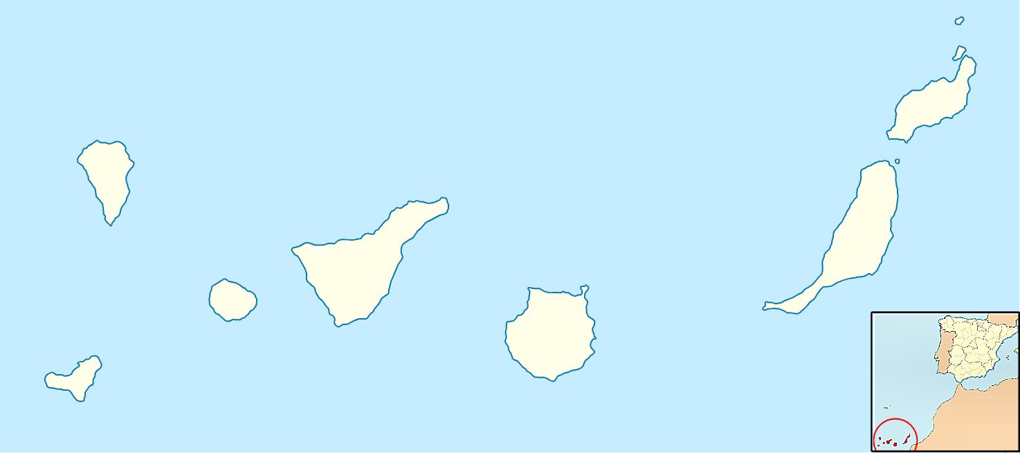 Mapa Mudo de las Islas Canarias