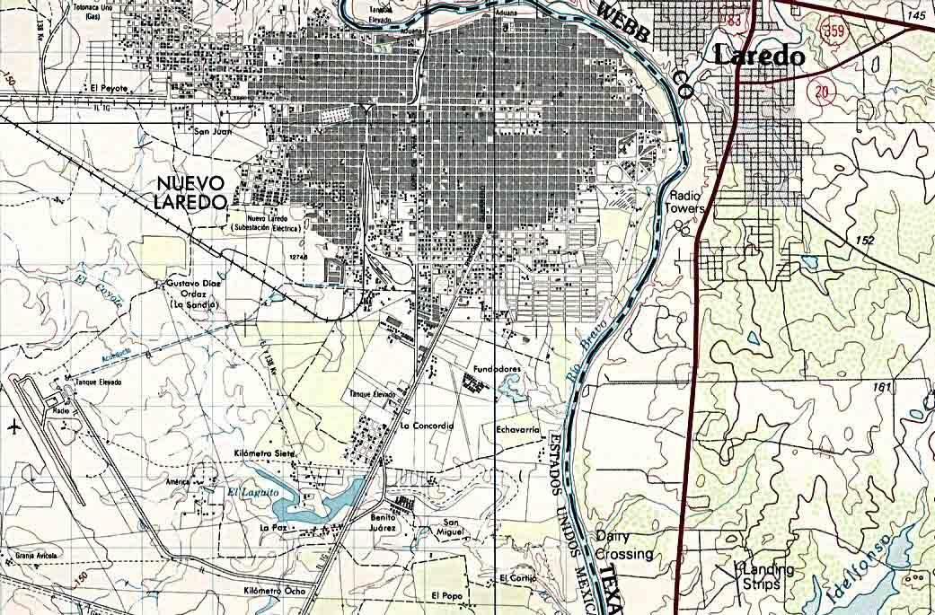 Mapa Nuevo Laredo, Tamaulipas, Mexico